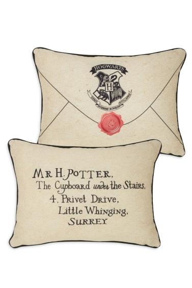 Hogwarts Letter Cushion, £6. Picture: PRIMARK